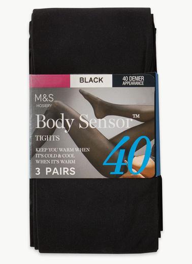 Marks & Spencer 3'lü Sensor 40 Denye Külotlu Çorap Siyah